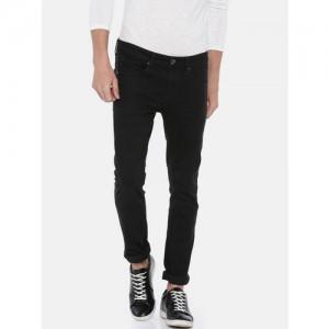 Pepe Jeans Men Black Martin Cane Super Skinny Fit Low-Rise Jeans