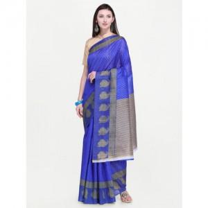 Triveni Printed Fashion Georgette Saree(Blue)