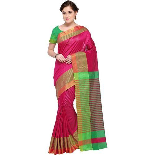 8c1d33cbe51522 Buy Triveni Silk Magenta Festival Wear Woven Traditional online ...