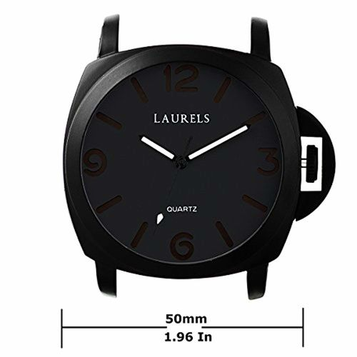 Laurels Invaders Large Black Dial Date Function Wrist Watch - For Men