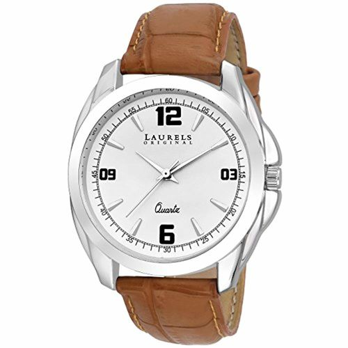 Laurels Analog White Dial Men's Watch - Lo-Dip-301-Swrl-0707-Inc-202