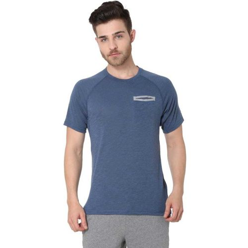 Puma Solid Men Round Neck Blue T-Shirt