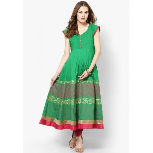 MBE Green Printed Anarkali