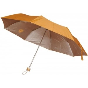 Bs Spy Yellow Polyester Solid Umbrella