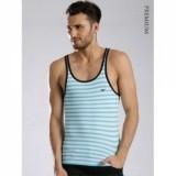 Emporio Armani Blue & White Striped Innerwear Vest