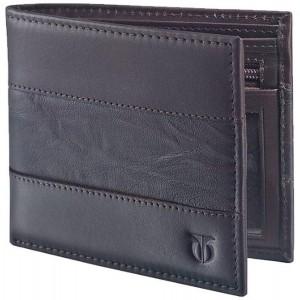 Titan Brown Leather Bi-Fold Wallet