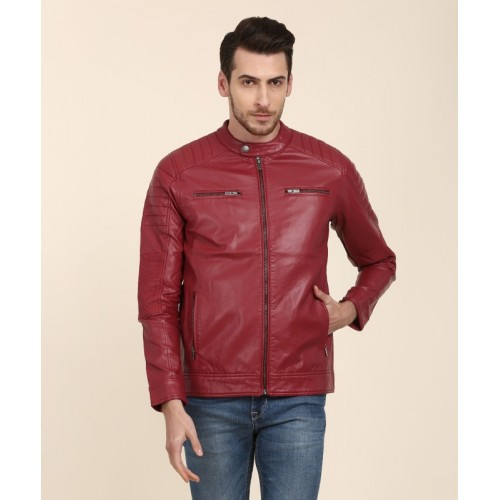 Pepe Jeans Red Full Sleeve Solid Men Jacket