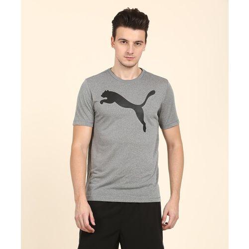 Puma Printed Men's Round Neck Grey T-Shirt