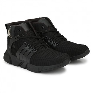 Afrojack Black Air Zip Mesh Running Shoes