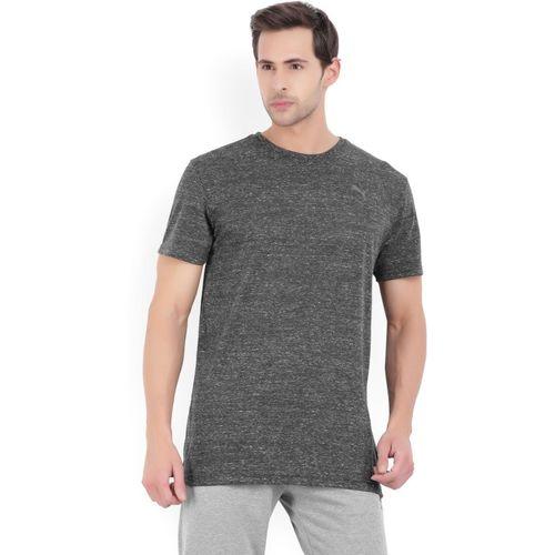 Puma Solid Men's Round Neck Grey T-Shirt