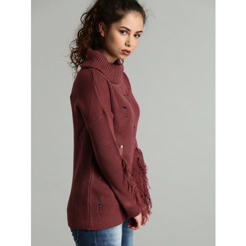 Roadster Burgundy Striped Pullover
