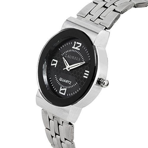 Laurels Agnus Black Dial Analog Wrist Watch - For Women