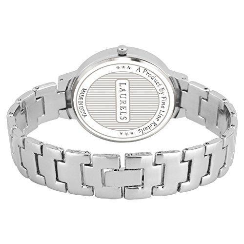 Laurels Luna Silver Dial Analogue Women Wrist Watch-LWW-LUNA-070707