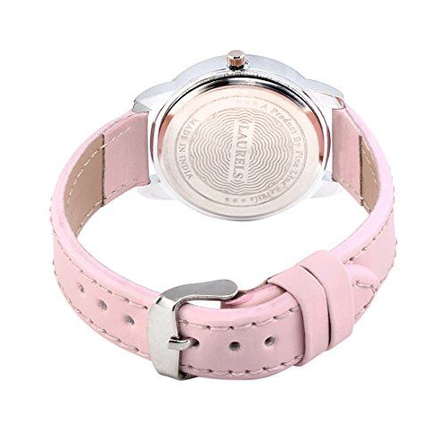 Laurels Colors Analog Pink Dial Women's Watch - Lo-Colors-1204