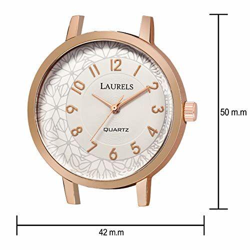 Laurels Flower Silver Copper Women Watch