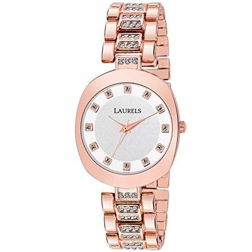 Laurels Victoria Studded Women Watch