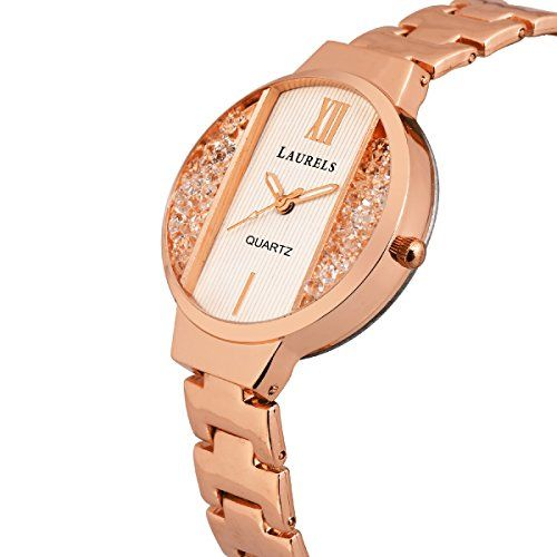 Laurels Luna Rose Gold Dial Analogue Women Wrist Watch- LW-LUNA-171717