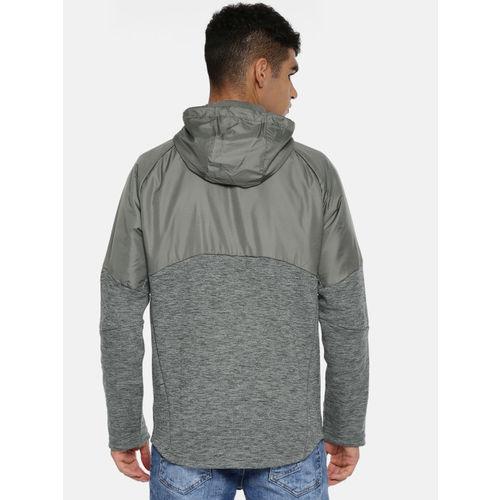 Puma Men Grey Melange Solid Evostripe WR FZ Slim Fit Hoody Tailored Jacket