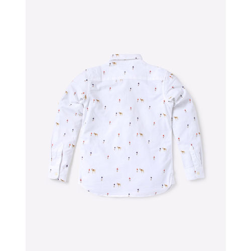 USPA Printed Oxford Shirt with Button-Down Collar