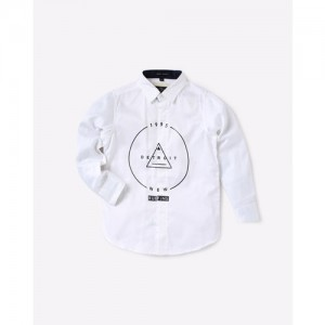 RUFF KIDS Printed Shirt with Spread Collar