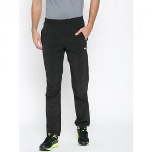 Puma Black Zippered Running Track Pants