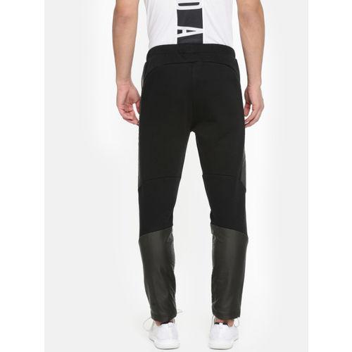 Puma Men Black Slim Fit Evostripe WR Solid Track Pants