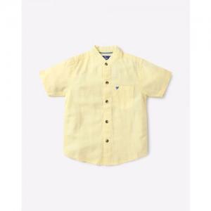 612 League Cotton Shirt with Band Collar