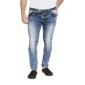 Spykar Dark Blue Cotton Skinny Fit Jeans