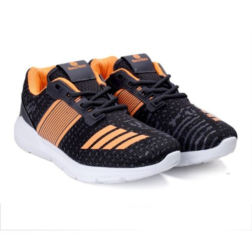 Bacca Bucci Knitted Sneakers Training & Gym Shoes For Men(Black, Orange)