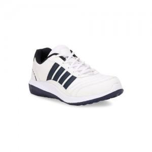 Columbus Men White Running Shoes