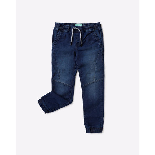 KB TEAM SPIRIT Mid-Rise Washed Joggers with Elasticated Waist