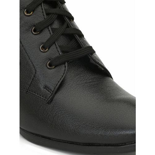 Eego Italy Men Black Solid Mid-Top Flat Boots