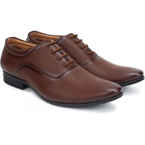 BUWCH Brown Lace Up For Men