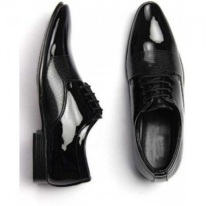 Shozie Black Patent Leather Lace Up Formal shoes