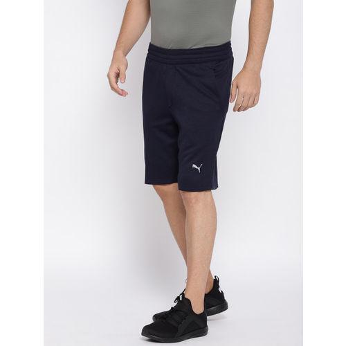 Puma Men Navy Blue Self-Design Regular Fit Oceanaire Energy Sports Shorts