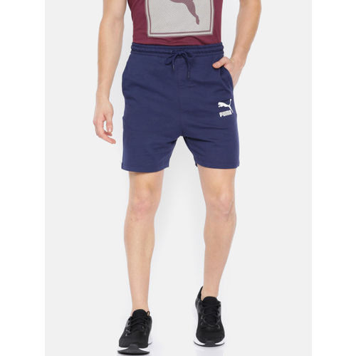 Puma Men Navy Blue T7 Track Peacoat Shorts