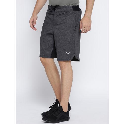 Puma Men Charcoal Solid Regular Fit Oceanaire Hybrid Short