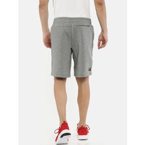 Puma Men Grey Solid Pace Sports Shorts