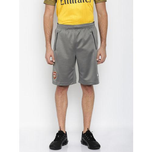 Puma Men Grey AFC Solid Training Shorts
