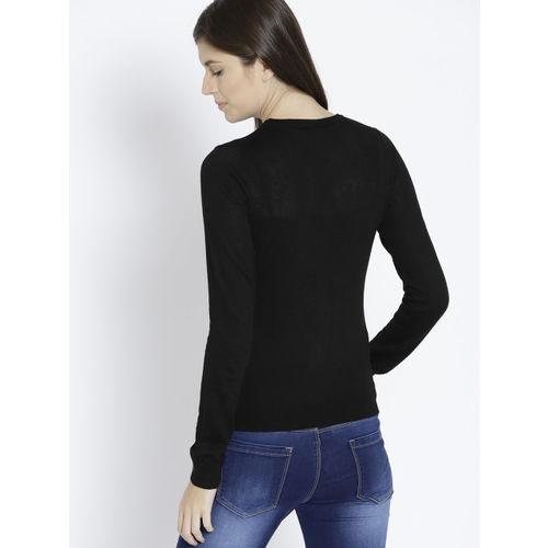 MANGO Women Black Solid Pullover