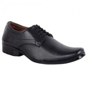 ASF SHOE Black shoes formal mens and boys Derby For Men(Black)