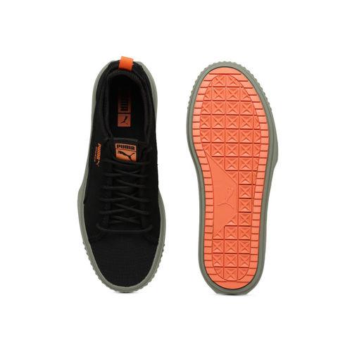 Buy Puma Men Black Breaker Mesh FOF Suede Casual Shoes online ... 84127fb1e