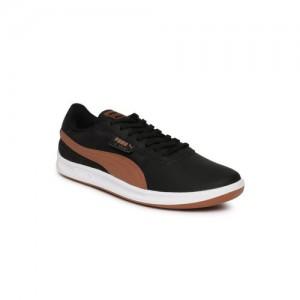 e2463c1e5b24 Buy PUMA Men Coffee Brown Leather Drift Cat 5 Core Sneakers online ...