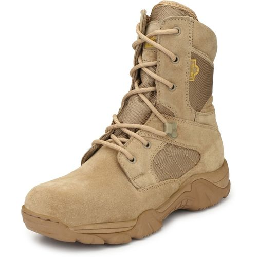 Mikaasa Response 8.0 Side Zip Military and Tactical Boots For Men(Beige)