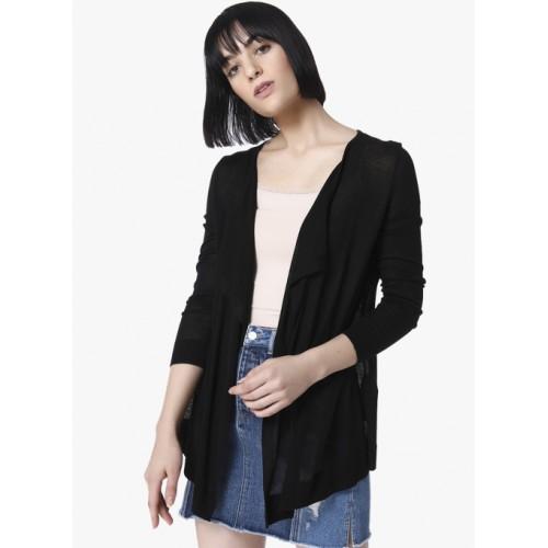Vero Moda Black Solid Cardigan