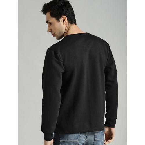 Roadster Men Black Printed Sweatshirt