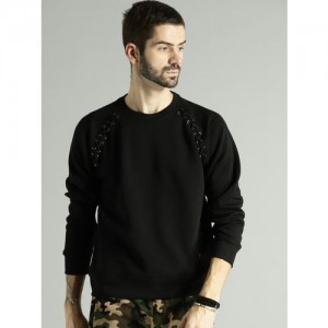 Roadster Black Solid Sweatshirt