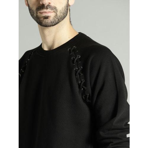 Roadster Black Solid Sweatshirt