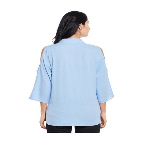 Oxolloxo Blue Embroidered Shirt