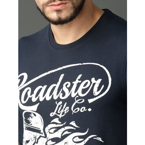 Roadster Men Navy Blue Printed Sweatshirt